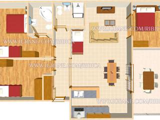 šesti až osmilůžkový apartmán