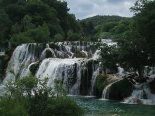 Vodopády na řece Krka
