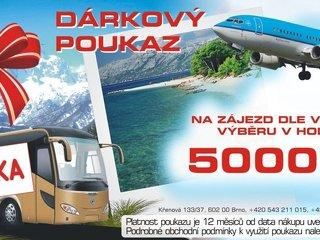 Dárkové poukazy na dovolenou  v Chorvatsku